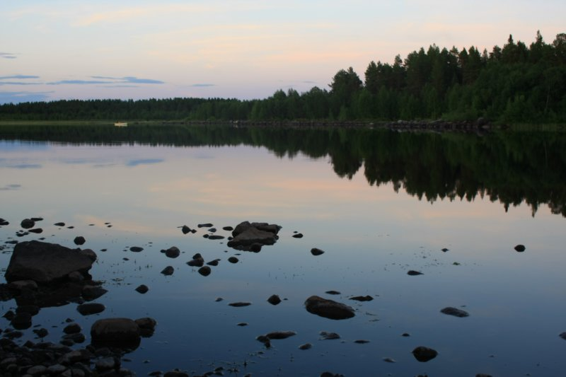 Lac langa campingul de la Vilhelmina
