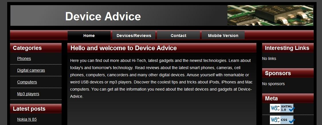 Device Advice