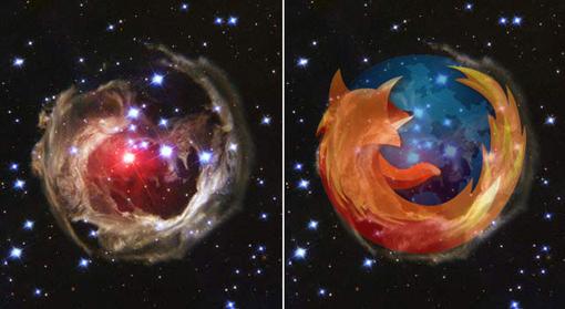 Firefox galaxy logo